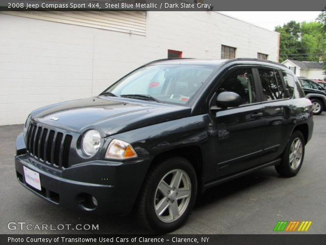 steel blue metallic 2008 jeep compass sport 4x4 dark. Black Bedroom Furniture Sets. Home Design Ideas