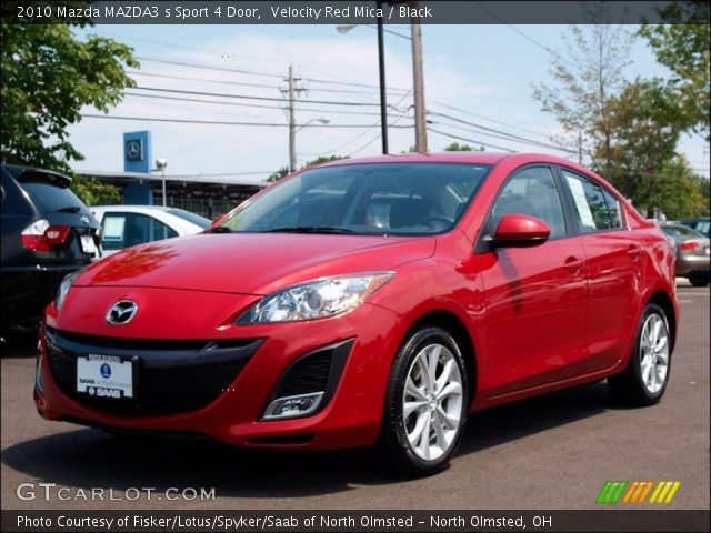 velocity red mica 2010 mazda mazda3 s sport 4 door black interior vehicle. Black Bedroom Furniture Sets. Home Design Ideas