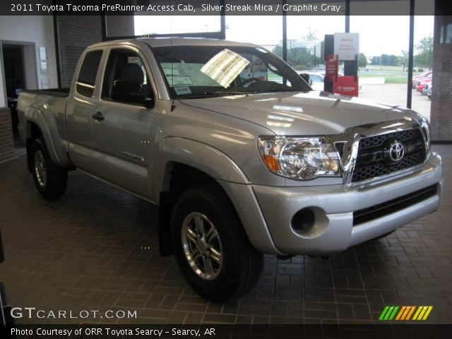 silver streak mica 2011 toyota tacoma prerunner access cab graphite gray interior gtcarlot. Black Bedroom Furniture Sets. Home Design Ideas