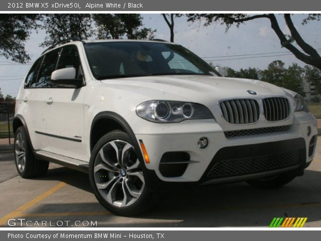 alpine white 2012 bmw x5 xdrive50i black interior vehicle archive 51425367. Black Bedroom Furniture Sets. Home Design Ideas