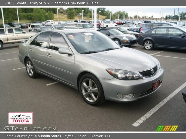 phantom gray pearl 2006 toyota camry se v6 beige interior vehicle archive. Black Bedroom Furniture Sets. Home Design Ideas