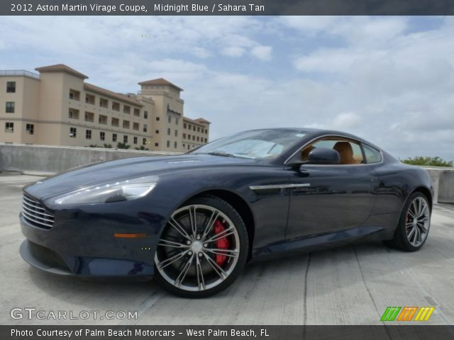 2012 Aston Martin Virage Coupe in Midnight Blue