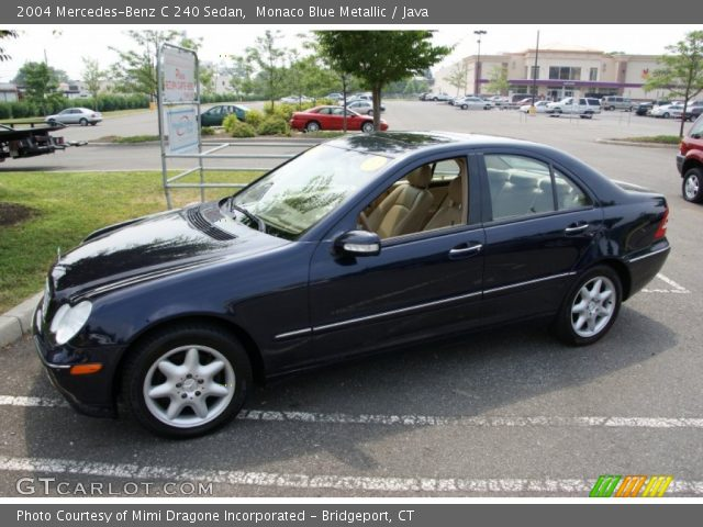 monaco blue metallic 2004 mercedes benz c 240 sedan java interior vehicle. Black Bedroom Furniture Sets. Home Design Ideas