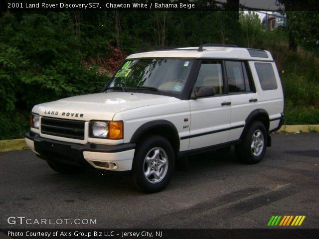 Chawton White 2001 Land Rover Discovery Se7 Bahama Beige Interior Vehicle