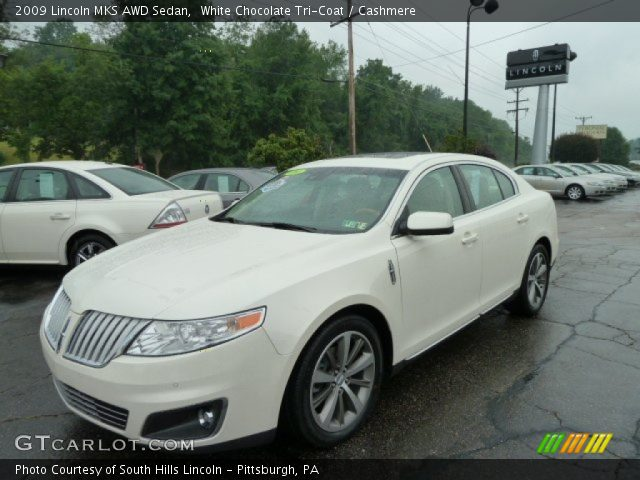 white chocolate tri coat 2009 lincoln mks awd sedan. Black Bedroom Furniture Sets. Home Design Ideas