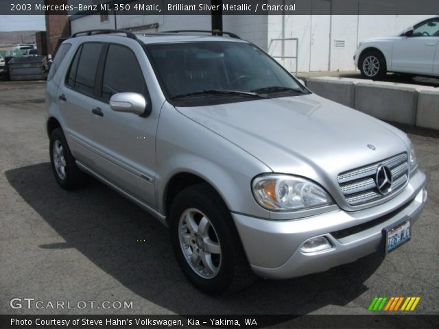 Brilliant silver metallic 2003 mercedes benz ml 350 for 2003 mercedes benz ml 350