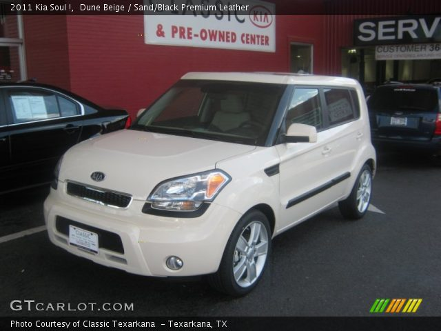 dune beige 2011 kia soul sand black premium leather interior vehicle. Black Bedroom Furniture Sets. Home Design Ideas