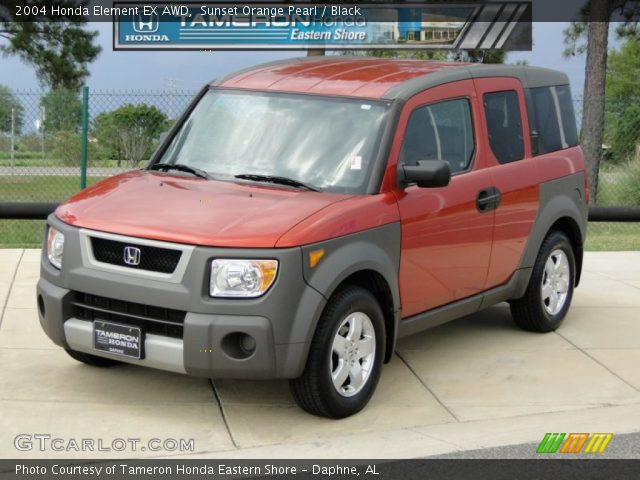 sunset orange pearl 2004 honda element ex awd black interior vehicle. Black Bedroom Furniture Sets. Home Design Ideas