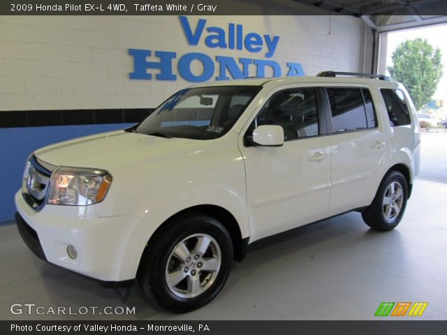 Taffeta White 2009 Honda Pilot Ex L 4wd Gray Interior Vehicle Archive 51613526