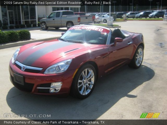ruby red 2009 saturn sky ruby red special edition roadster black interior. Black Bedroom Furniture Sets. Home Design Ideas
