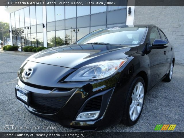 black mica 2010 mazda mazda3 s grand touring 4 door. Black Bedroom Furniture Sets. Home Design Ideas