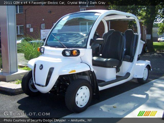 2011 GEM e e4 4 Passenger Electric Car in Crystal White