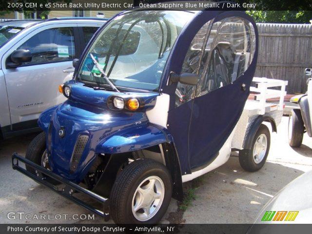 2009 GEM e eS Short Back Utility Electric Car in Ocean Sapphire Blue Metallic