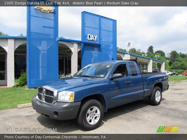 atlantic blue pearl 2005 dodge dakota st club cab 4x4 medium slate gray interior gtcarlot. Black Bedroom Furniture Sets. Home Design Ideas