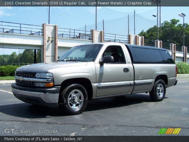 Light Pewter Metallic 2002 Chevrolet Silverado 1500 Ls Regular Cab Graphite Gray Interior