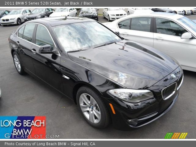 jet black 2011 bmw 5 series 528i sedan black interior vehicle archive 51669853. Black Bedroom Furniture Sets. Home Design Ideas