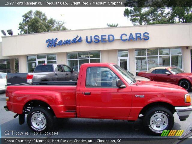bright red 1997 ford ranger xlt regular cab medium graphite interior. Black Bedroom Furniture Sets. Home Design Ideas