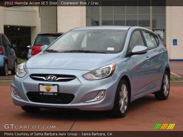 2012 Hyundai Accent SE 5 Door in Clearwater Blue