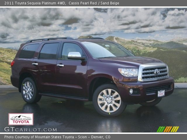 cassis pearl red 2011 toyota sequoia platinum 4wd sand. Black Bedroom Furniture Sets. Home Design Ideas