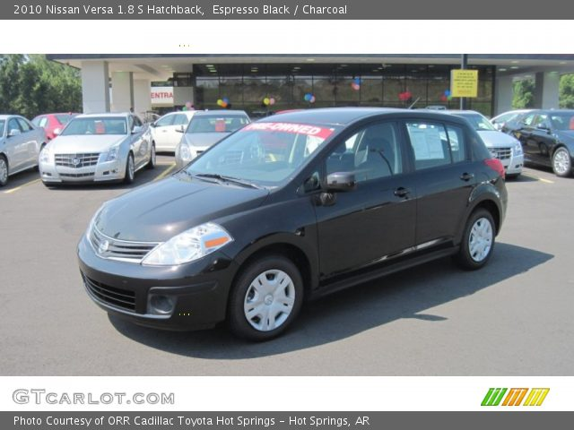espresso black 2010 nissan versa 1 8 s hatchback. Black Bedroom Furniture Sets. Home Design Ideas