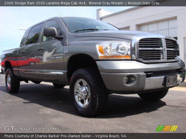 Mineral Gray Metallic 2006 Dodge Ram 1500 Laramie Mega Cab 4x4 Medium Slate Gray Interior