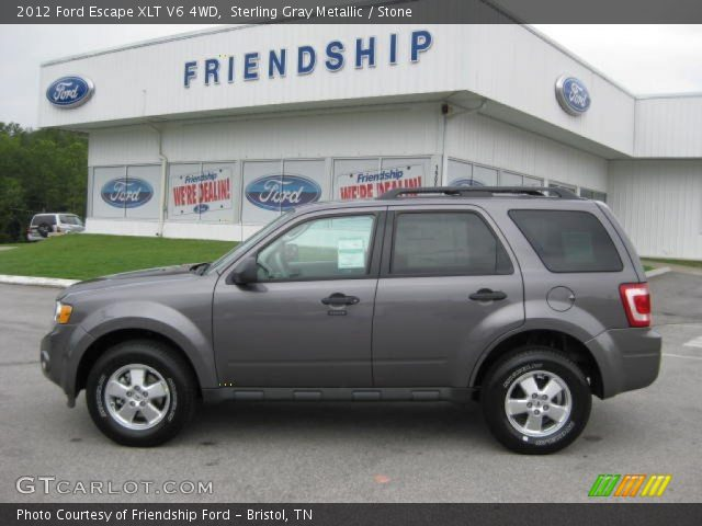 sterling gray metallic 2012 ford escape xlt v6 4wd stone interior vehicle. Black Bedroom Furniture Sets. Home Design Ideas