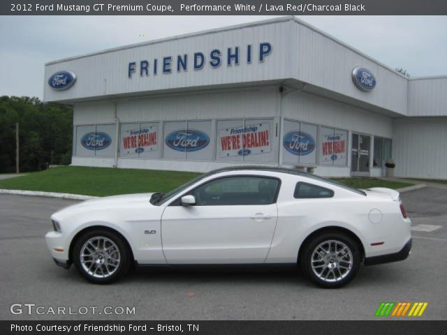2012 ford mustang gt premium coupe in performance white - Mustang 2012 White