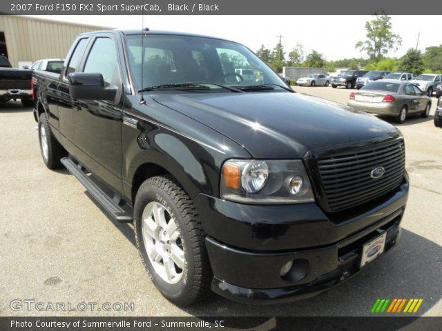 black 2007 ford f150 fx2 sport supercab black interior vehicle archive. Black Bedroom Furniture Sets. Home Design Ideas