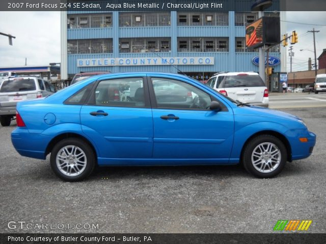 aqua blue metallic 2007 ford focus zx4 se sedan. Black Bedroom Furniture Sets. Home Design Ideas