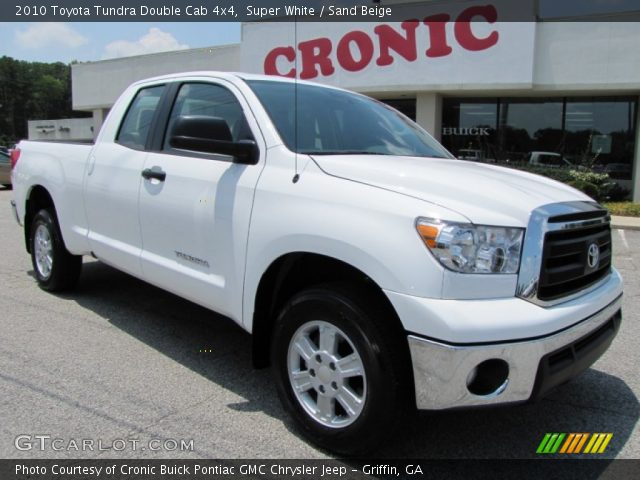 super white 2010 toyota tundra double cab 4x4 sand. Black Bedroom Furniture Sets. Home Design Ideas