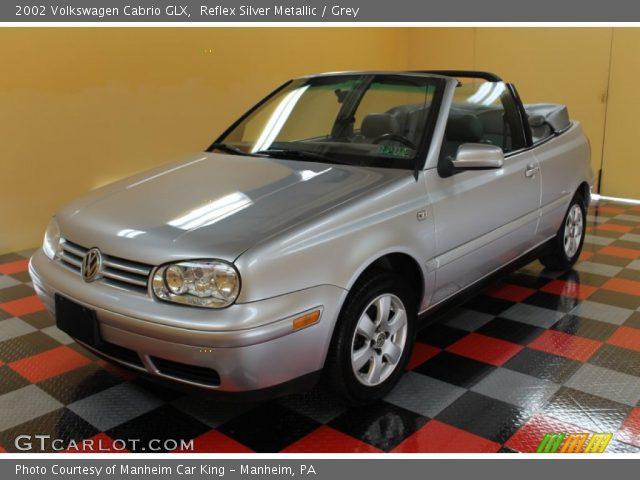reflex silver metallic 2002 volkswagen cabrio glx grey. Black Bedroom Furniture Sets. Home Design Ideas