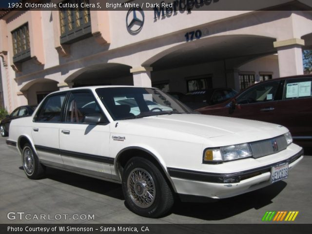 bright white 1992 oldsmobile cutlass ciera s dark red interior gtcarlot com vehicle archive 51856377 gtcarlot com