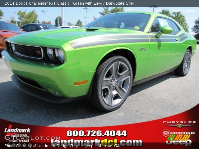 green with envy 2011 dodge challenger r t classic dark. Black Bedroom Furniture Sets. Home Design Ideas