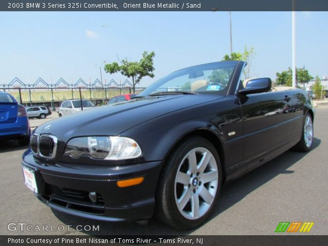 2003 BMW 3 Series 325i Convertible in Orient Blue Metallic