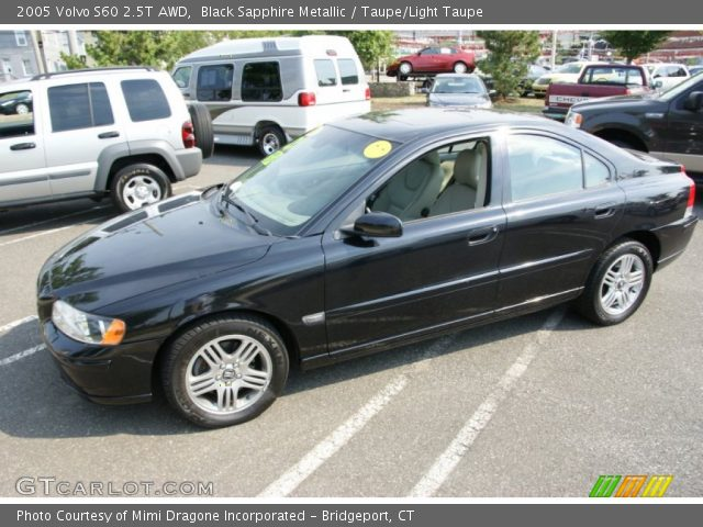 black sapphire metallic 2005 volvo s60 2 5t awd taupe light taupe interior. Black Bedroom Furniture Sets. Home Design Ideas