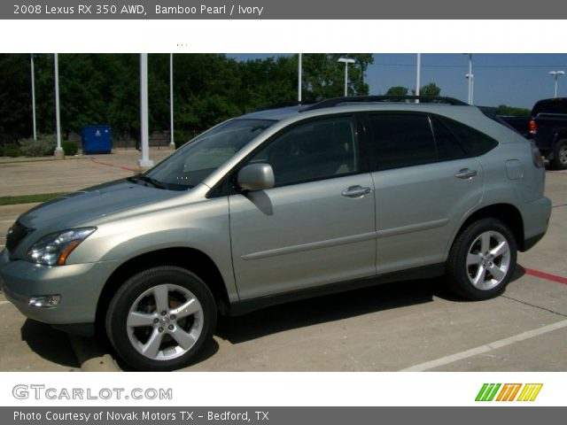 bamboo pearl 2008 lexus rx 350 awd ivory interior vehicle archive 51857290. Black Bedroom Furniture Sets. Home Design Ideas