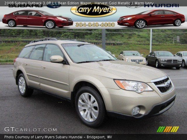 harvest gold metallic 2008 subaru outback 3 0r l l bean. Black Bedroom Furniture Sets. Home Design Ideas
