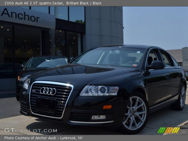 Brilliant Black - 2009 Audi A6 3.0T quattro Sedan - Black Interior ...