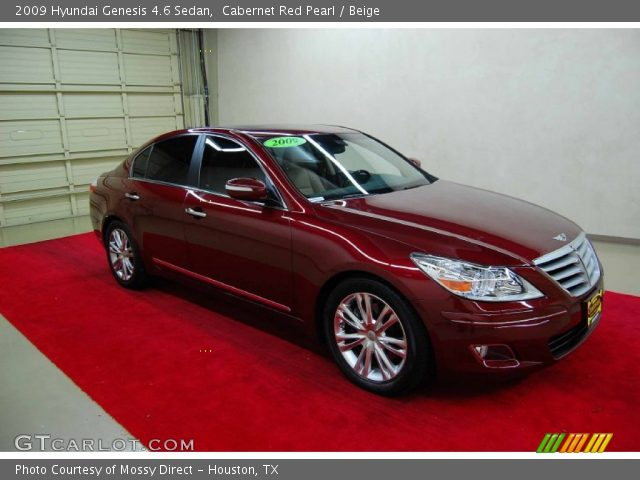 cabernet red pearl 2009 hyundai genesis 4 6 sedan. Black Bedroom Furniture Sets. Home Design Ideas