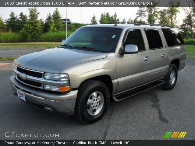 light pewter metallic 2003 chevrolet suburban 1500 lt 4x4 gray dark charcoal interior. Black Bedroom Furniture Sets. Home Design Ideas