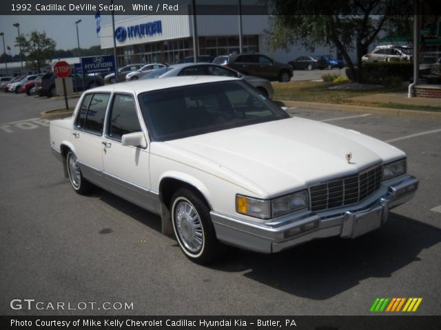 white 1992 cadillac deville sedan red interior. Black Bedroom Furniture Sets. Home Design Ideas