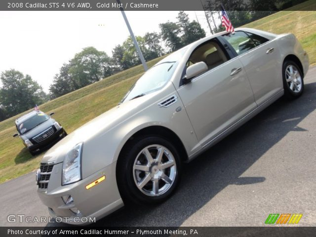 2008 Cadillac STS 4 V6 AWD in Gold Mist