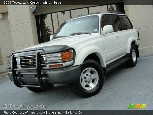 White 1996 toyota land cruiser beige interior gtcarlot com