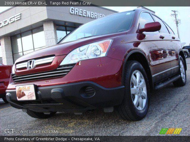 tango red pearl 2009 honda cr v ex l gray interior vehicle archive 52086945. Black Bedroom Furniture Sets. Home Design Ideas