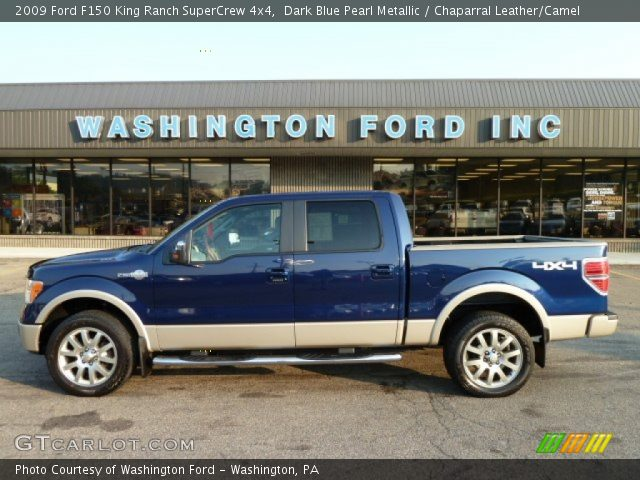 2009 Ford F150 King Ranch SuperCrew 4x4 in Dark Blue Pearl Metallic