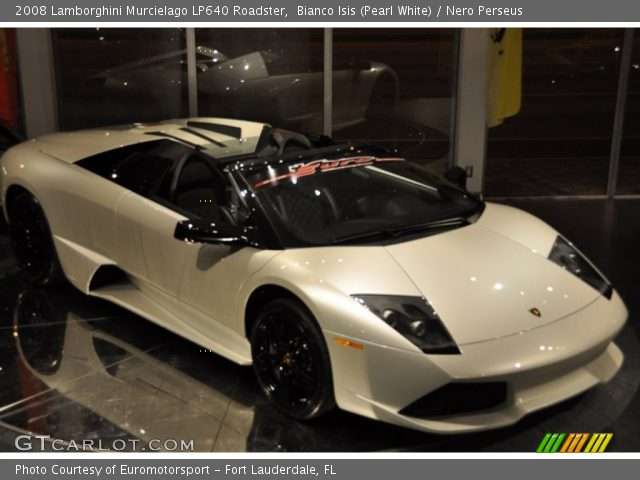 2008 Lamborghini Murcielago LP640 Roadster in Bianco Isis (Pearl White)