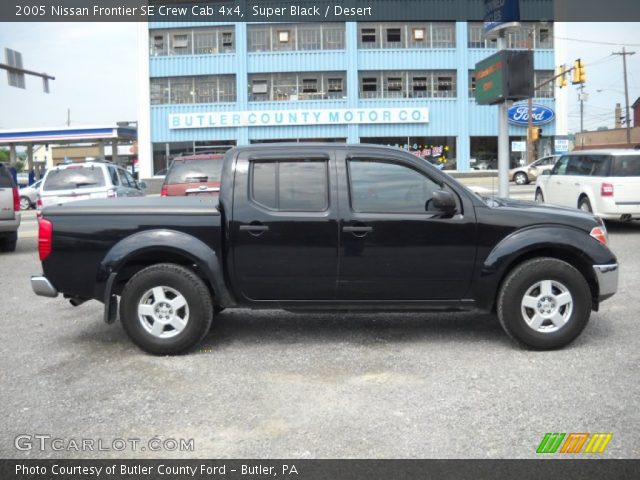 super black 2005 nissan frontier se crew cab 4x4. Black Bedroom Furniture Sets. Home Design Ideas