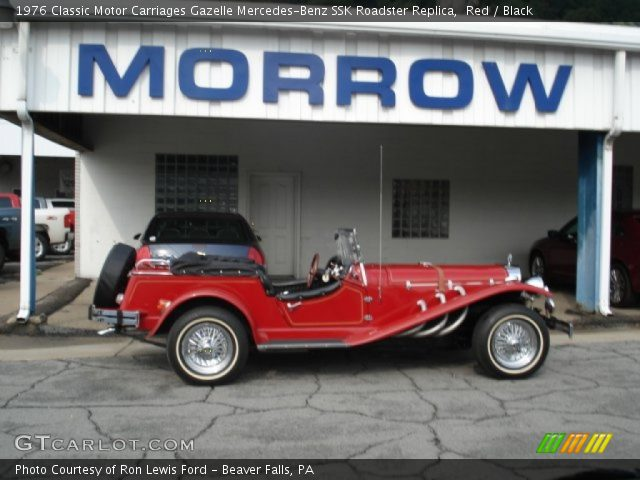 1976 Classic Motor Carriages Gazelle Mercedes-Benz SSK Roadster Replica in Red