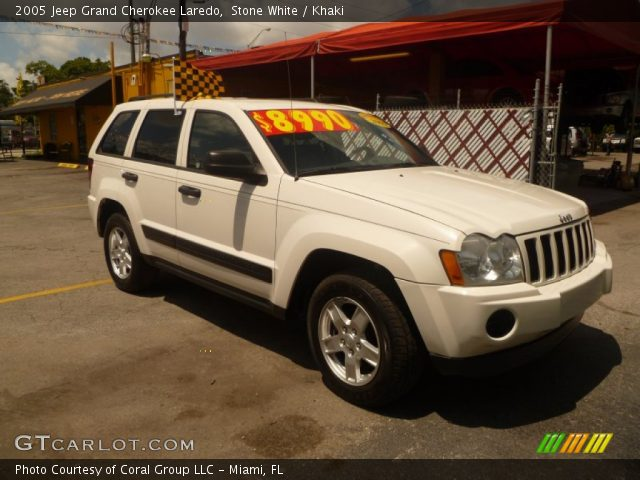 Stone white 2005 jeep grand cherokee laredo khaki - 2005 jeep grand cherokee laredo interior ...