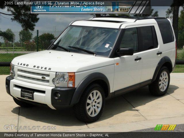 chawton white 2005 land rover lr3 v8 se alpaca beige interior vehicle. Black Bedroom Furniture Sets. Home Design Ideas